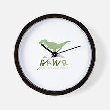 Dinosaur Rawr Wall Clock