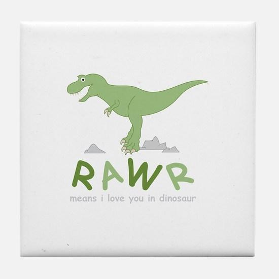 Dinosaur Rawr Tile Coaster