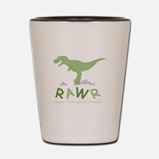 Dinosaur Rawr Shot Glass