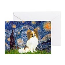 Starry Night Papillon (f) Greeting Cards (Pk of 20