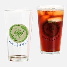 Crop Circle Believer Drinking Glass