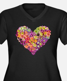 Fairyscape Daylilies Women's Plus Size V-Neck Dark