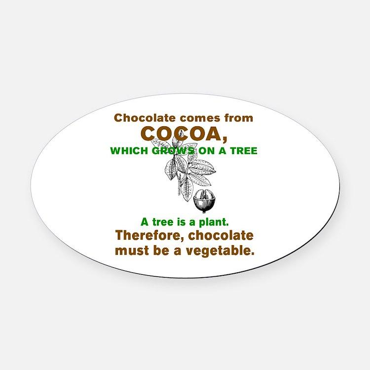 Cute Chocolate Oval Car Magnet