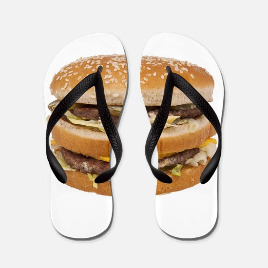 Double Cheeseburger Flip Flops