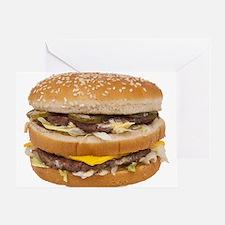 Double Cheeseburger Greeting Card