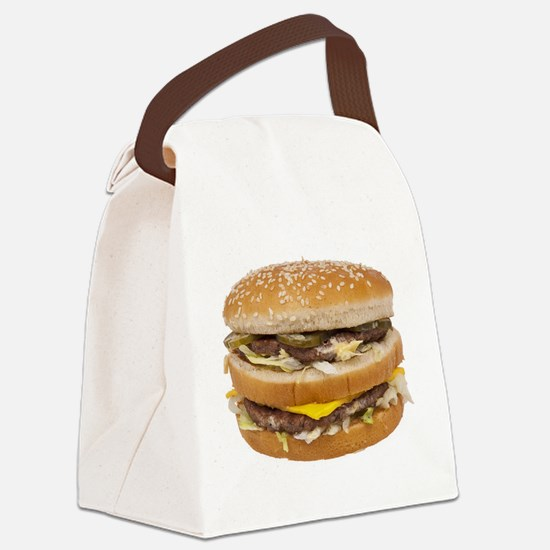 Double Cheeseburger Canvas Lunch Bag