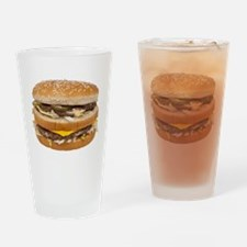 Double Cheeseburger Drinking Glass