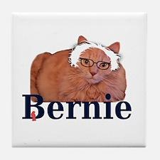 Bernie Cat Tile Coaster
