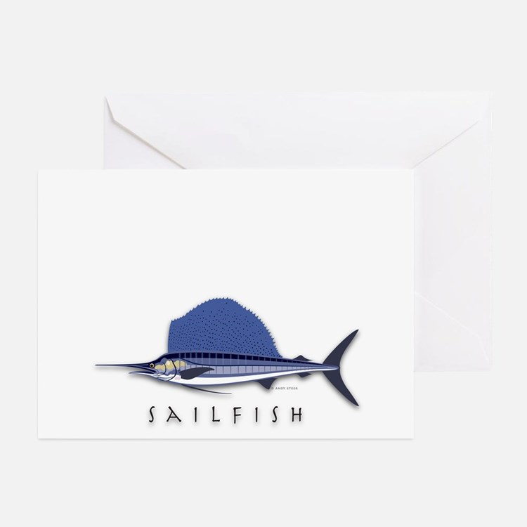 Sailfish Greeting Cards