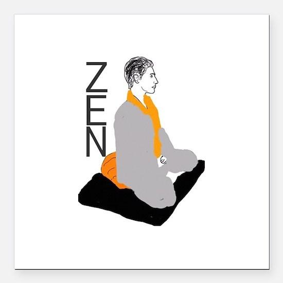 """Zen Square Car Magnet 3"""" x 3"""""""
