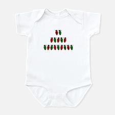 First Christmas Xmas Lights Infant Bodysuit