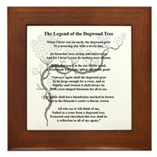 """Dogwood Tree Legend"" Framed Tile"