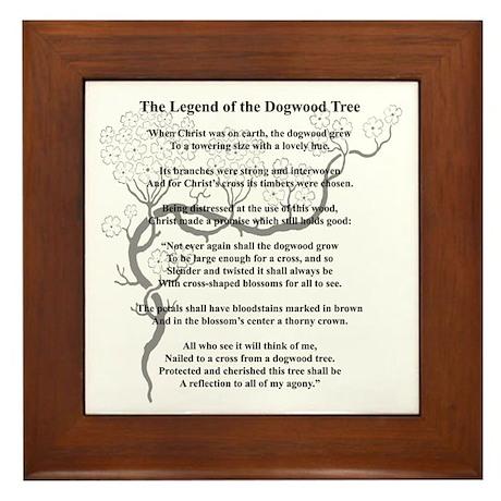 """""""Dogwood Tree Legend"""" Framed Tile"""