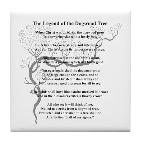 """Dogwood Tree Legend"" Tile Coaster"