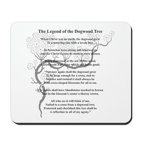 """""""Dogwood Tree Legend"""" Mousepad"""