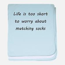 Matching socks baby blanket