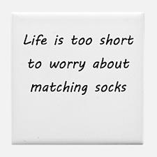 Matching socks Tile Coaster