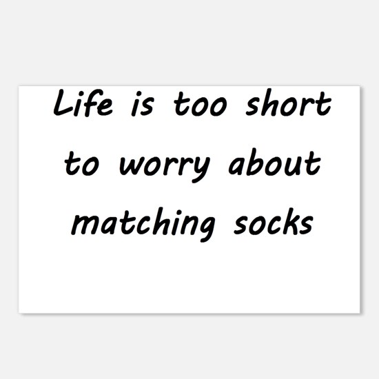 Matching socks Postcards (Package of 8)