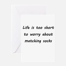 Matching socks Greeting Cards