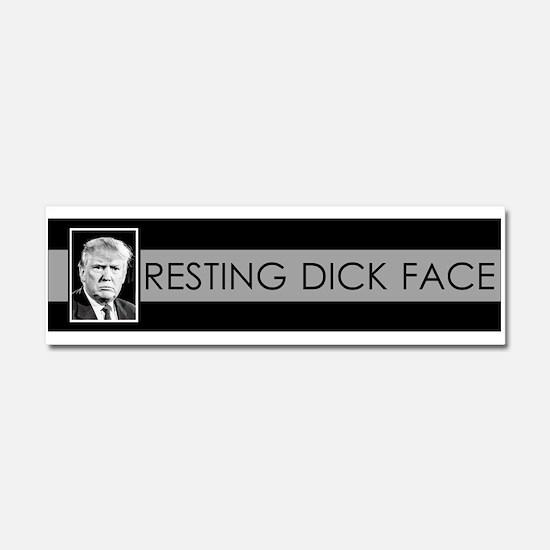 Trump: Resting Dick Face Car Magnet 10 x 3