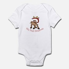 First Christmas Deer Infant Bodysuit