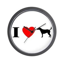 I Heart Harrier Wall Clock