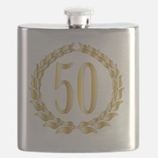 Unique Fifty birthday Flask