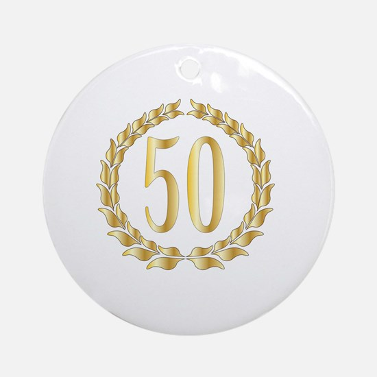 Cute Fifty Round Ornament