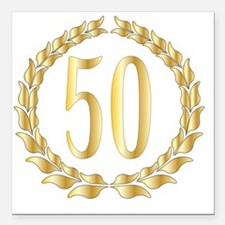 "Unique 50th wedding anniversary Square Car Magnet 3"" x 3"""