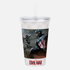 Team Cap Vs Iron Man Acrylic Double-Wall Tumbler