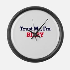 Trust Me, I'm Riley Large Wall Clock