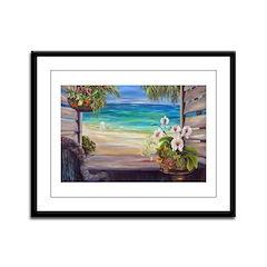 Caribbean Morning Framed Panel Print
