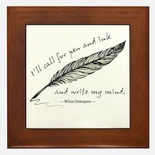 Write My Mind Framed Tile