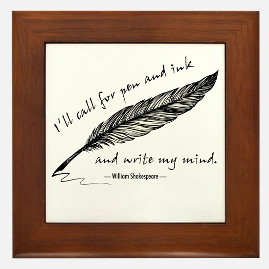 Write My Mind Framed Tile