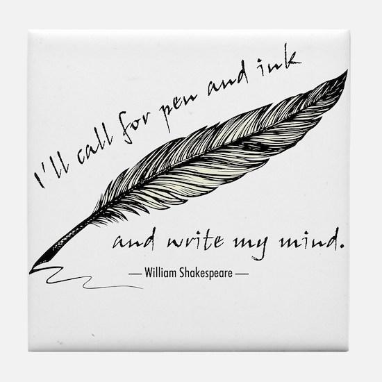 Write My Mind Tile Coaster