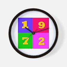 1972 Years Designs Wall Clock