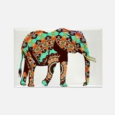 Cute Indian elephant Rectangle Magnet