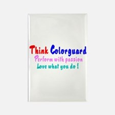 Think Colorguard Rectangle Magnet