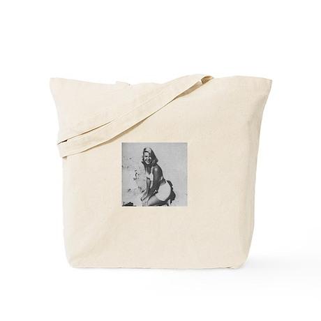 Sylvia Plath w/ original poetry knitter's Tote Bag