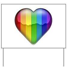 Rainbow Heart 1 Yard Sign