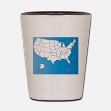 Funny Geography Shot Glass