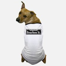 Bourbon St. Sign Dog T-Shirt