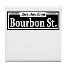 Bourbon St. Sign Tile Coaster