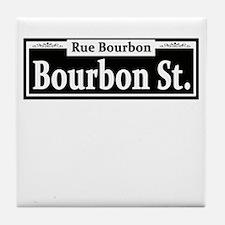Bourbon St. Sign Tile Coaster