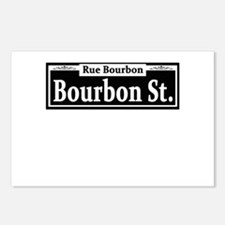 Bourbon St. Sign Postcards (Package of 8)