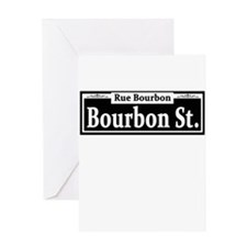 Bourbon St. Sign Greeting Card