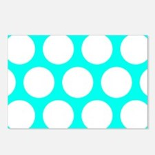 Blue, Turquoise: Polka Do Postcards (Package of 8)