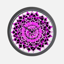 Sunburst Mandala 1 Wall Clock
