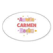 Carmen Oval Decal