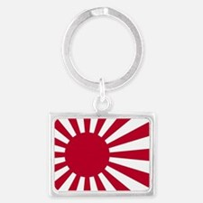 Cool Japan flag Landscape Keychain